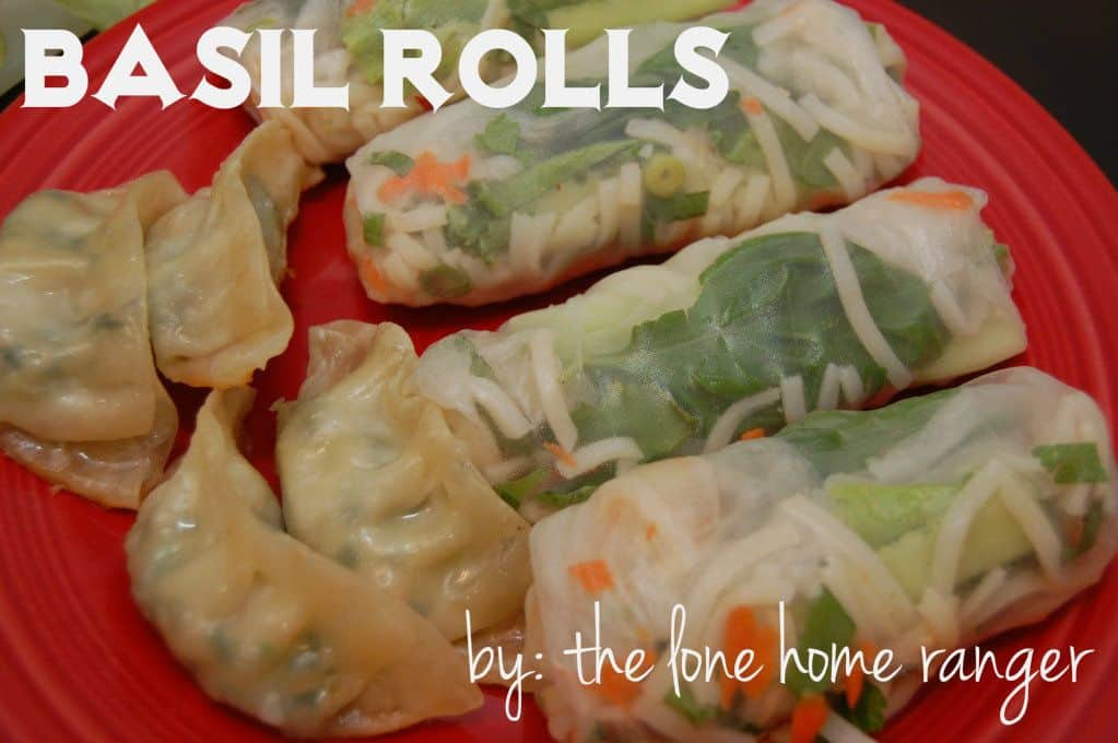 basil rolls